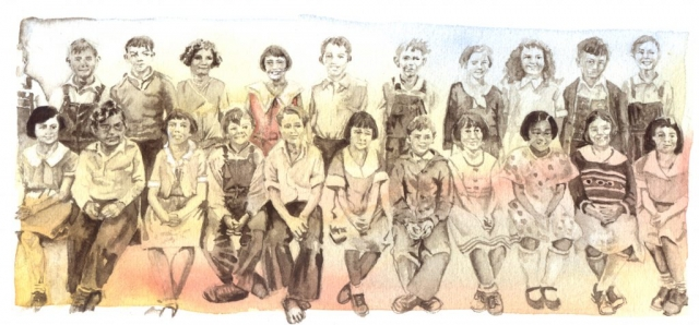Modesto school children about 1933
